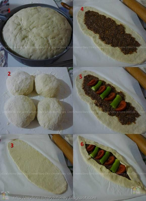 Citra's Home Diary: Kıymalı Pide / Turkish #Pita bread with ground meat topping