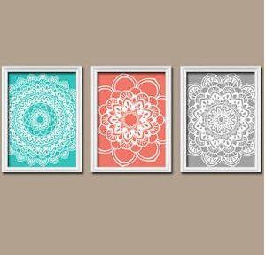Framed Doilies From Tmdesign On Etsy I Love Turquoise