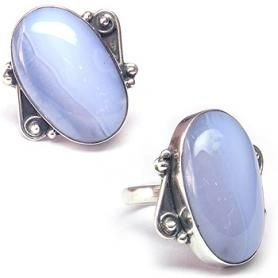 Chalcedony Gemstone Ring With 925 Sterling Silver