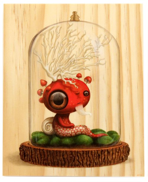 """Saturnine"" by artist Cuddly Rigor Mortis - Curiosities show"