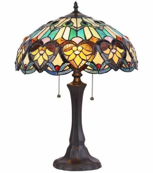 Tiffany Style Victorian Bronze Hearts Table Lamp Desk Lamps Decorative Glass NEW #Tiffany #VictorianStyle