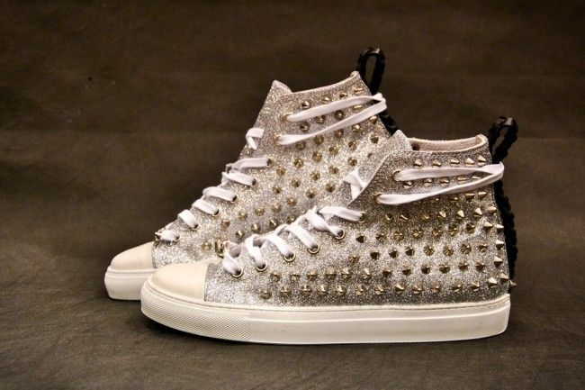 Work_On leather shoes - #leather #shoes #custom #studs #sneakers #workon #fashion #handmade #madeinitaly - www.workoncustom.com - mod. All That Glitter