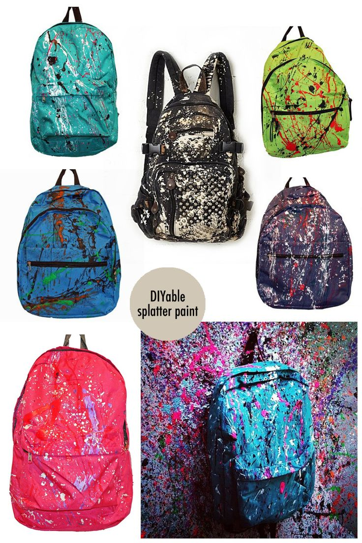 splatter paint backpacks