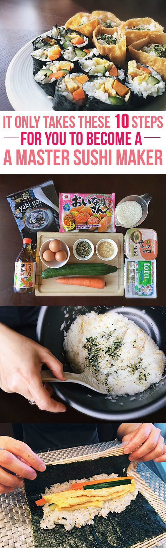 You've always wanted to make sushi at home---to save tons of money. Here is the ultimate guide to becoming a sushi master in your own kitchen. What can the ten steps be?