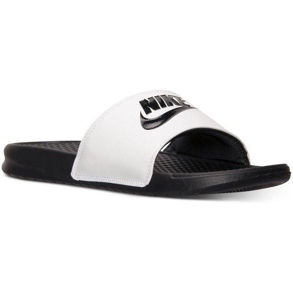 Nike Men's Benassi Jdi Slide Sandals from Finish Line ($22) ❤ liked on  Polyvore