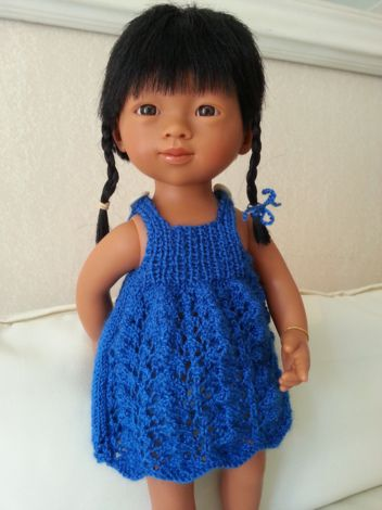 tuto robe bleue Zia (30cm)