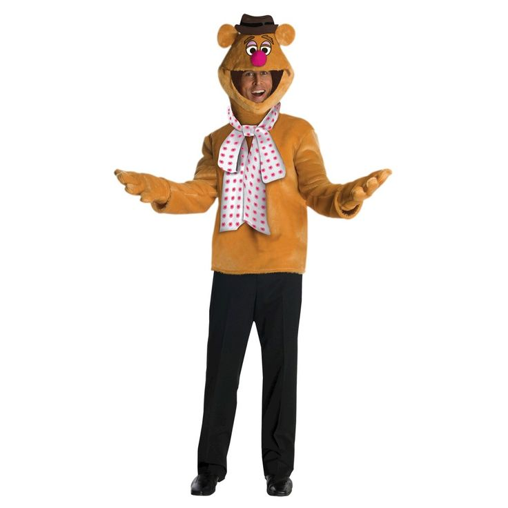 Stunning Halloween Men us The Muppets Fozzie Costume One Size Fits Most Multi Colored
