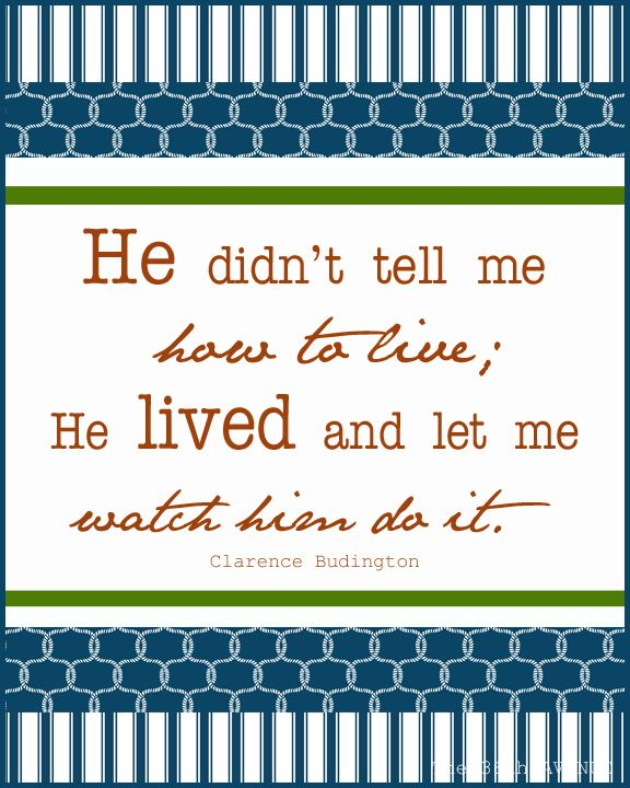Father's-Day! Free printable - this quote is perfect because it explains my ...