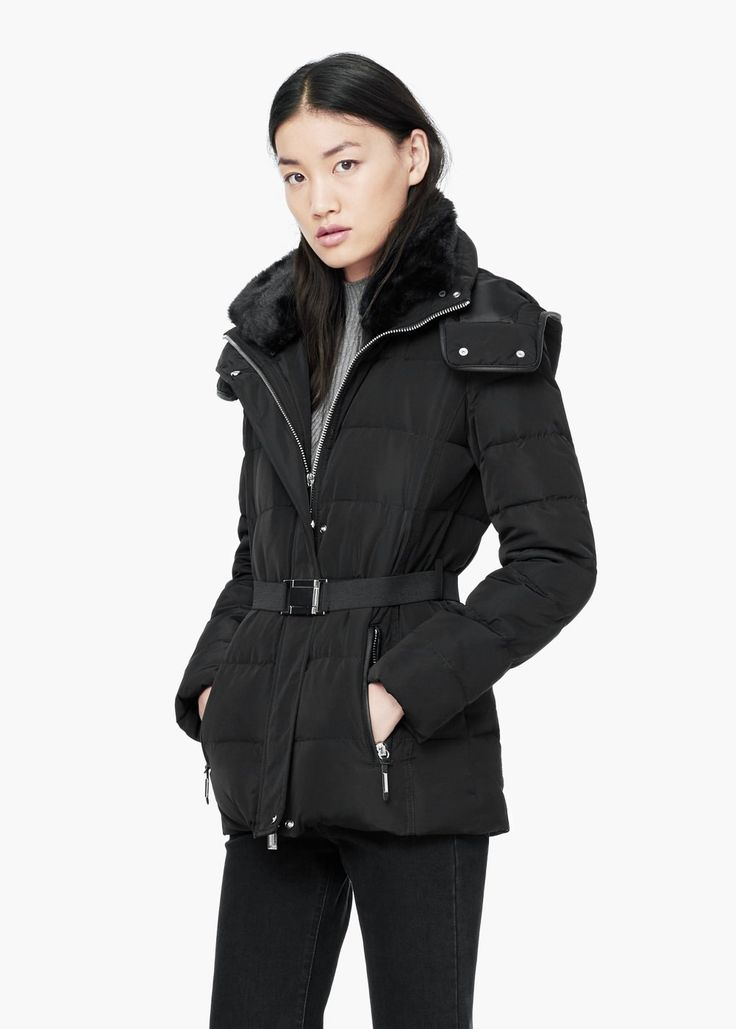 Quilted feather coat -  Women | MANGO