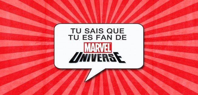 A vous de lister ce qui fait de vous un fan du super univers cinématique de Marvel.