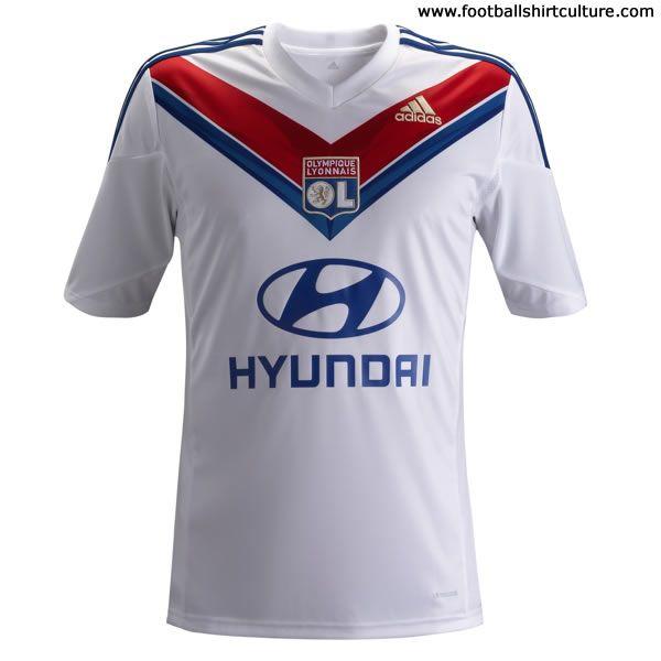 Olympique Lyon adidas home football shirt