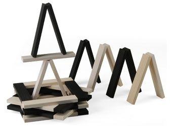 kapla konstruktionsspiel / schwarz und weiß