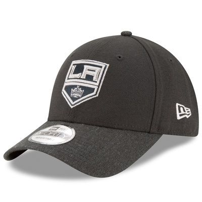 Men's Los Angeles Kings New Era Black/Heathered Black League 2 9FORTY Adjustable Hat