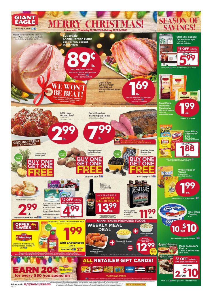 Giant eagle weekly ad december 17 25 2015 httpwww