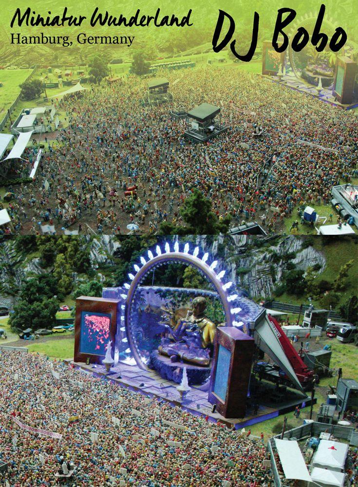 Miniature DJ Bobo Concert at the Miniatur Wunderland, Hamburg • Germany Travel Blog Tourist is a Dirty Word