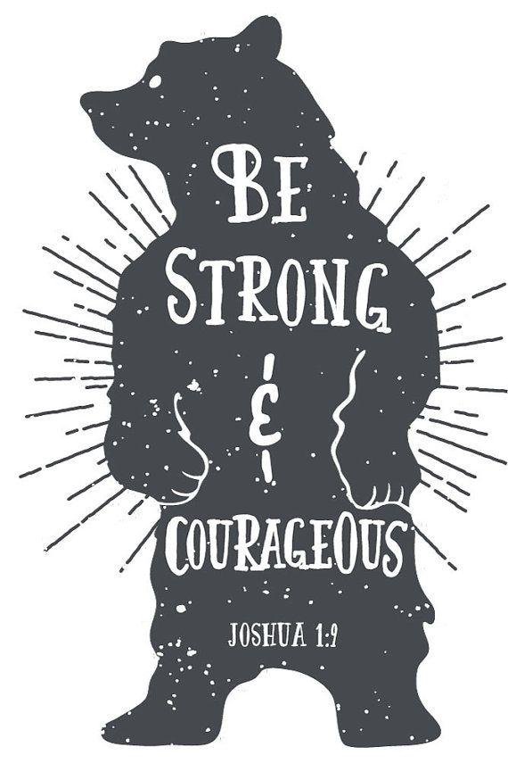 Instant Bible Verse Art Print Joshua 1:9 by SeedsofFaithDesigns