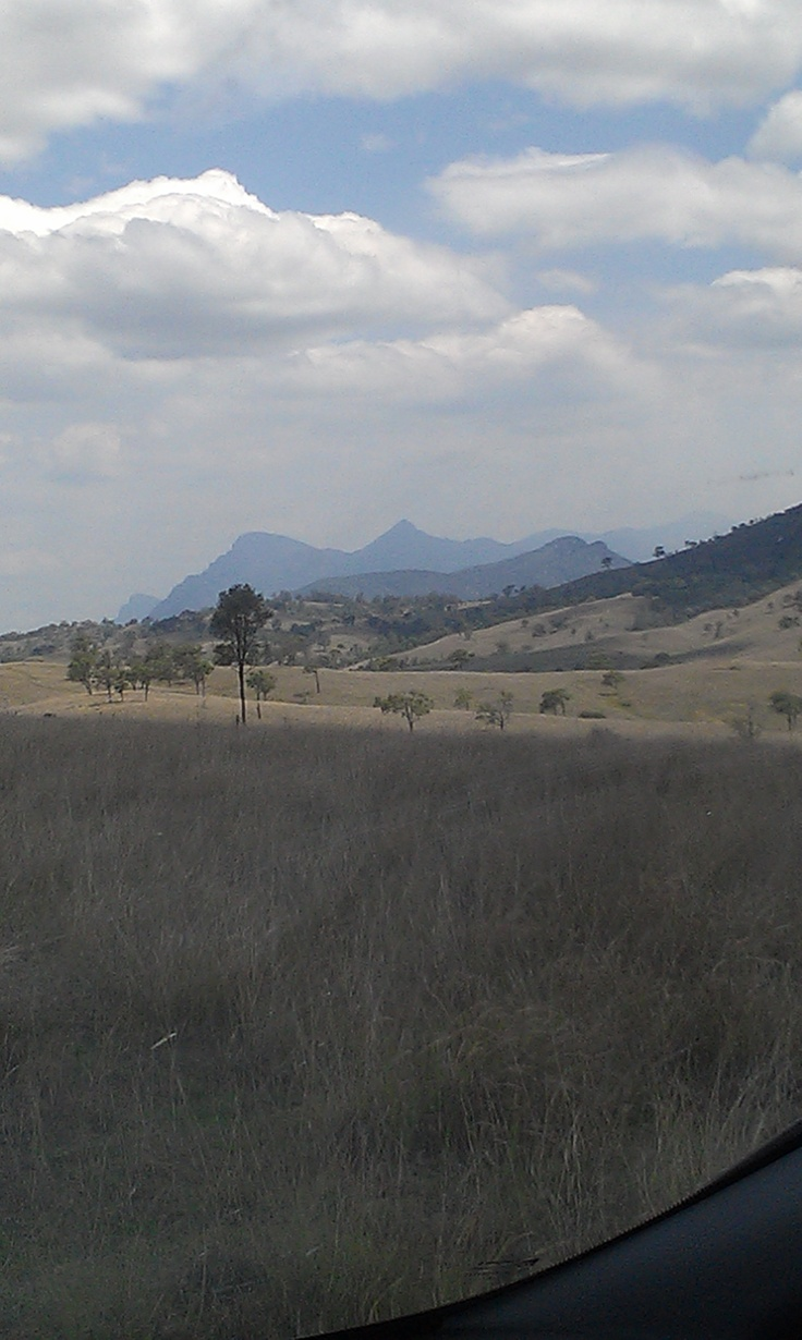 The view of Mt Barney from Coochin