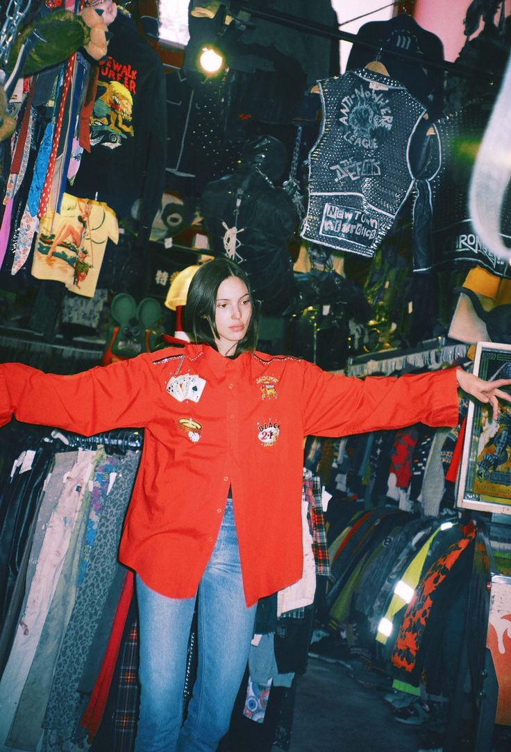 Ruby Aldridge Shops Punk Fashion on St. Marks Place