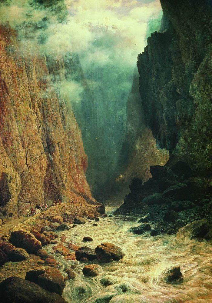 Судковский Руфин Гаврилович (1850 - 1885) - Дарьяльское ущелье, 1884