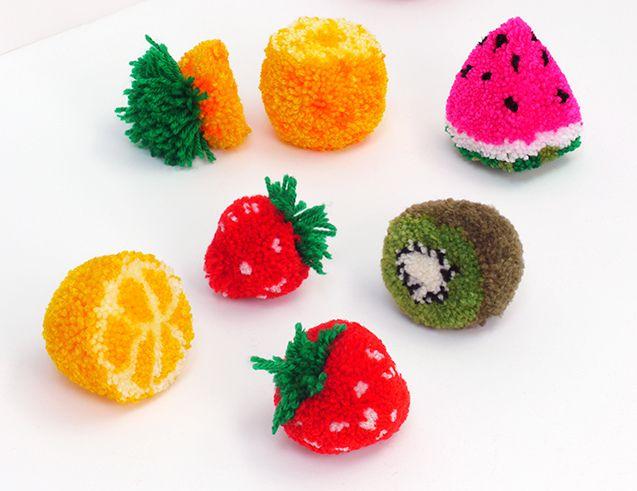 Fruits en pompons