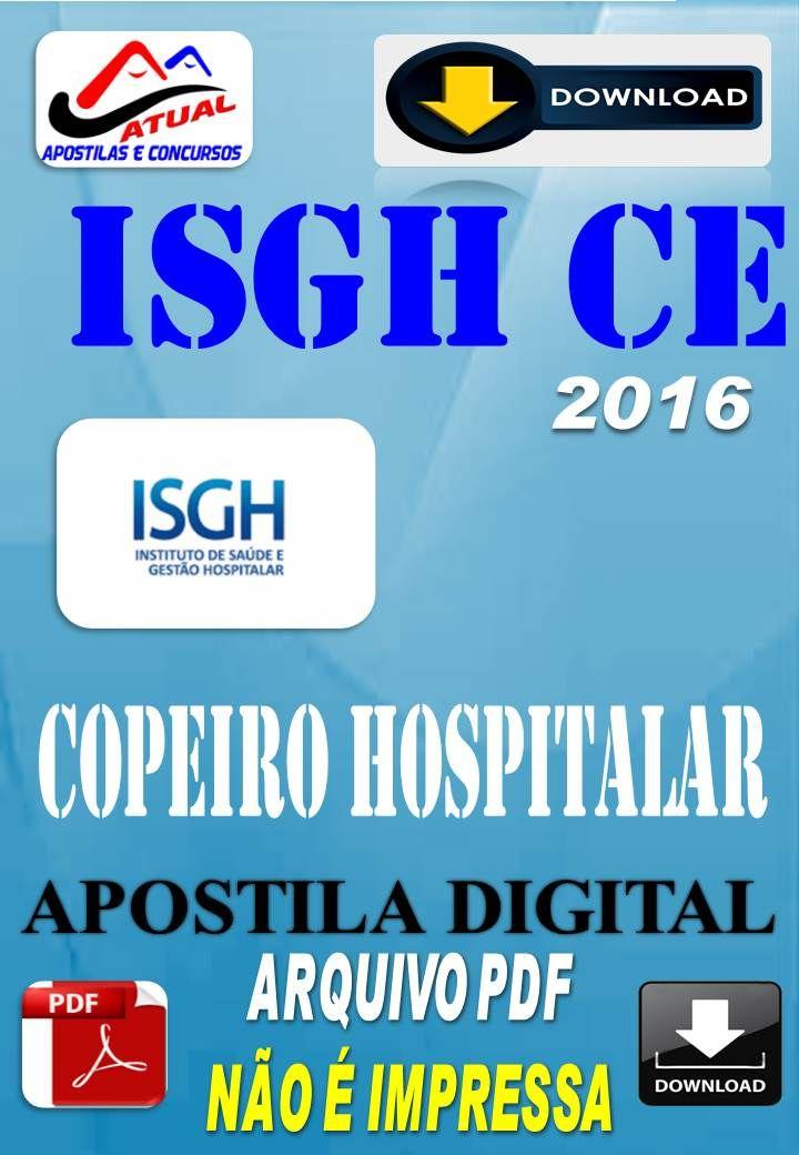Apostila Digital Concurso ISGH CE Copeiro Hospitalar 2016
