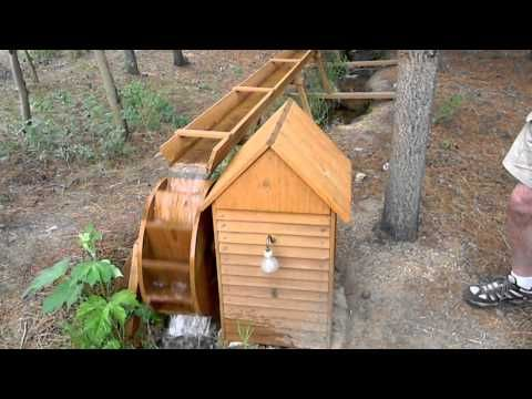 Inglenook Water Wheel Electrical Generator