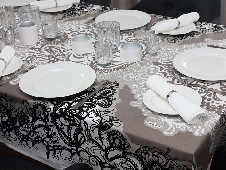 Mandariini Clay Fabric - A beautifully detailed floral design with damask like features on a clay background. Designed by Vallila Interiors of Helsinki and exclusive in NZ to Harvey Furnishings.