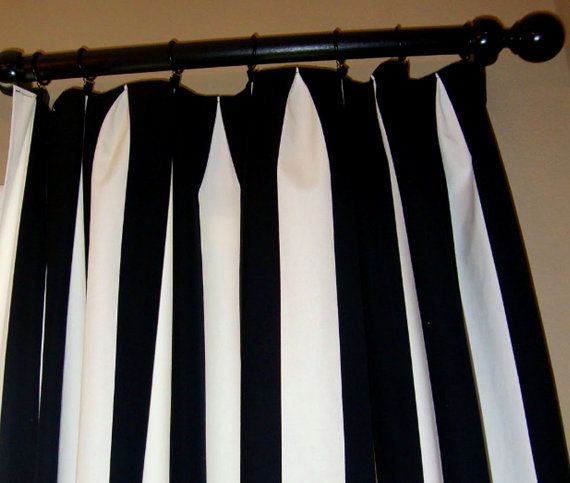 STORE WIDE SALE Curtains Drapes custom made striped by draperyloft, $110.00