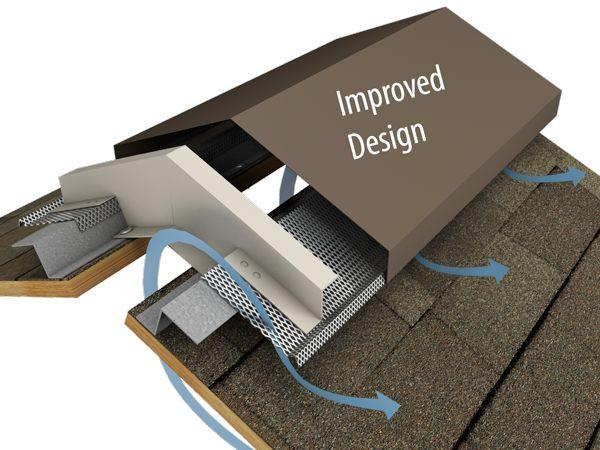 NEW IMPROVED DESIGN: Hi Perf Ridge Vent Slope To Slope Shingled Version