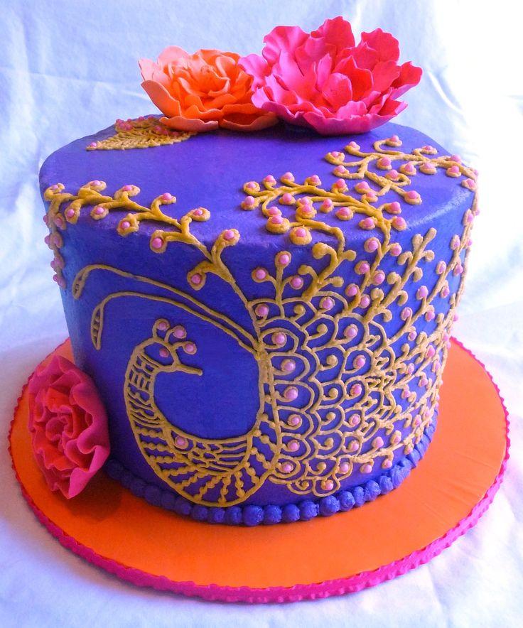 Simple Mehndi Cake : Images about henna cakes on pinterest mehndi
