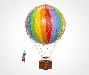 First appearing in the movie Mr. Magorium's Wonder Emporium, and now on Hugo, Cindy's Too has had so many requests that we are now offering these hot air balloons for sale.     A great decoration for any room!