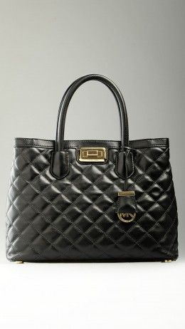 Hannah medium quilted-leather tote