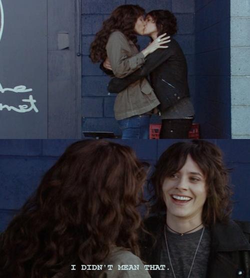 Rachel Shelley (Helena Peabody) and Kate Moennig (Shane McCutcheon). Hahaha!