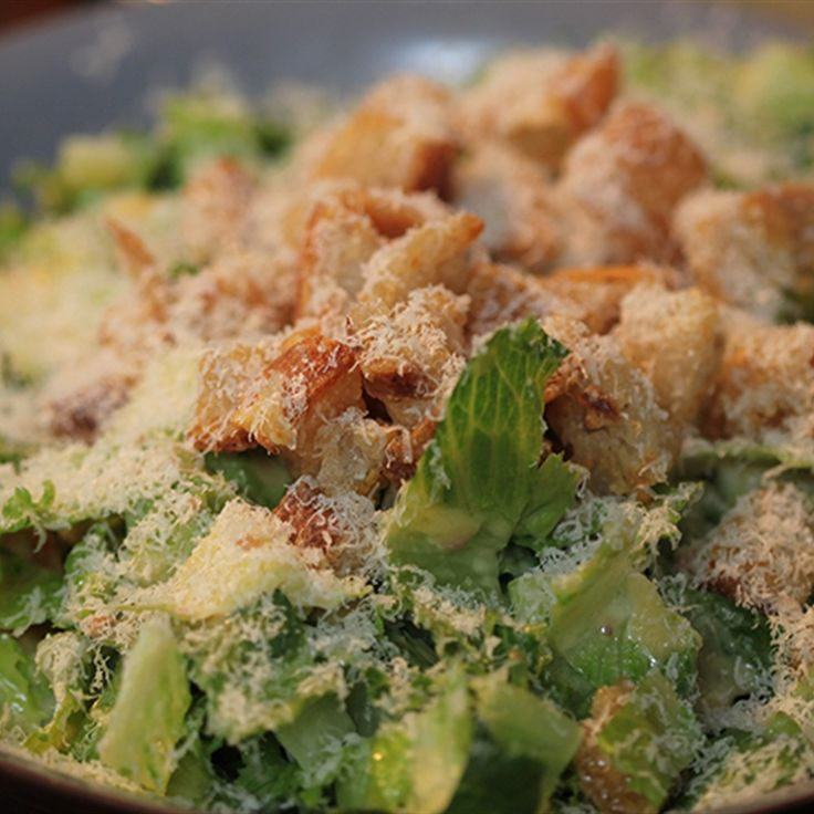 Try this Big Caesar Salad recipe by Chef Gordon Ramsay. This recipe is from the show Gordon's Ultimate Home Cooking.