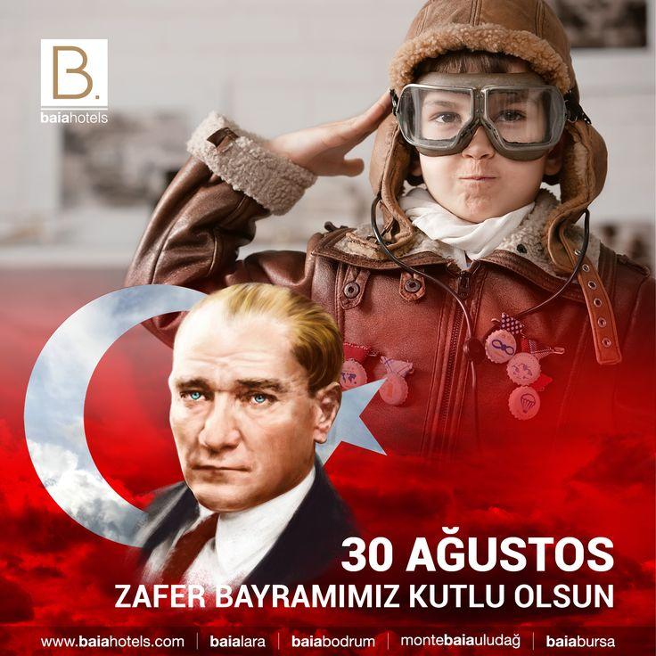 30 Ağustos Zafer Bayramımız Kutlu Olsun   Bu topraklarda ay yıldızlı bayrağımız altında özgürce yaşamamızı kanları ve canları pahasına sağlayan başta cumhuriyetimizin kurucusu, Ulu Önder Gazi Mustafa Kemal Atatürk olmak üzere kahraman gazilerimizi ve şehitlerimizi şükranla anıyoruz #baiahotels #baialara #30ağustoszaferbayramı