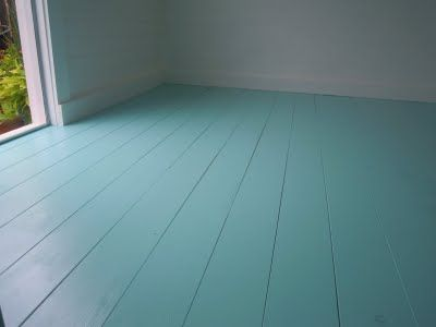 Jamaican Bay from Behr paint- What a perfect blue. - Best 25+ Painted Wood Floors Ideas On Pinterest Paint Wood
