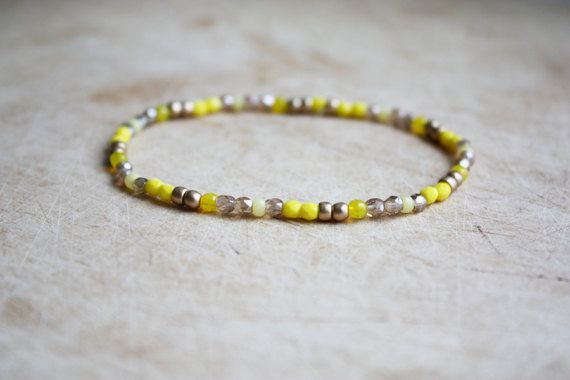 Geel & goud Boho kralen armband - Boheemse Jewellery - vriendschap armband - zomer Vibes