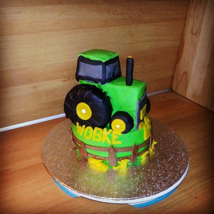 Tractor cake, trekker taart, boeren taart, fondant, verjaardag, birthday