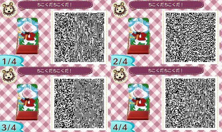 White Rabbit Face board Cut Out Standee Animal Crossing New Leaf Qr Code