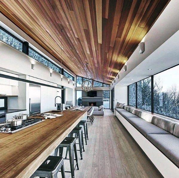 Top 60 Best Wood Ceiling Ideas Wooden Interior Designs Chalet