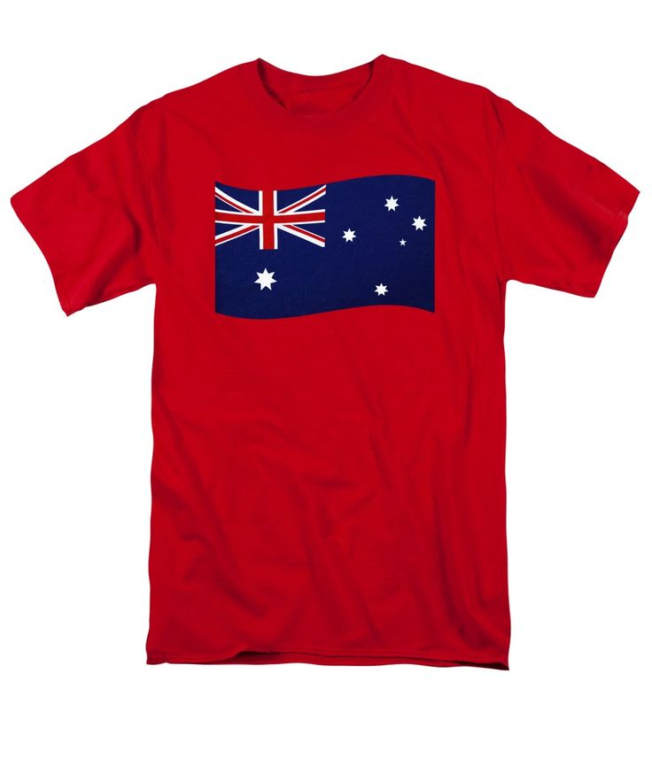 Photography T-Shirt featuring the photograph Australian Flag Waving Png By Kaye Menner by Kaye Menner