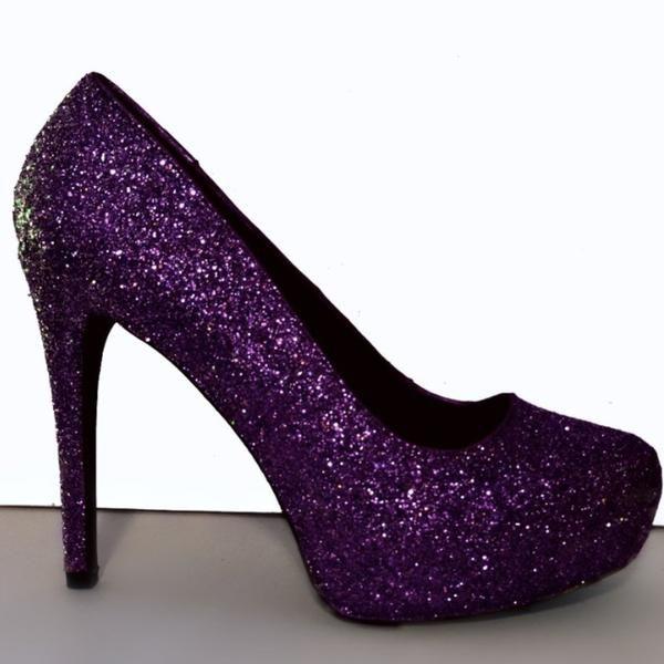 Purple Prom Heels