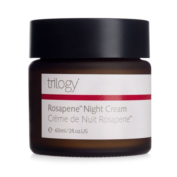 New to Trilogy; Rosapene Night Cream is enriched with a unique anti-oxidant rich Rosapene Oil blend. This high performance night recovery cream works with the skin's own natural process for optimum re