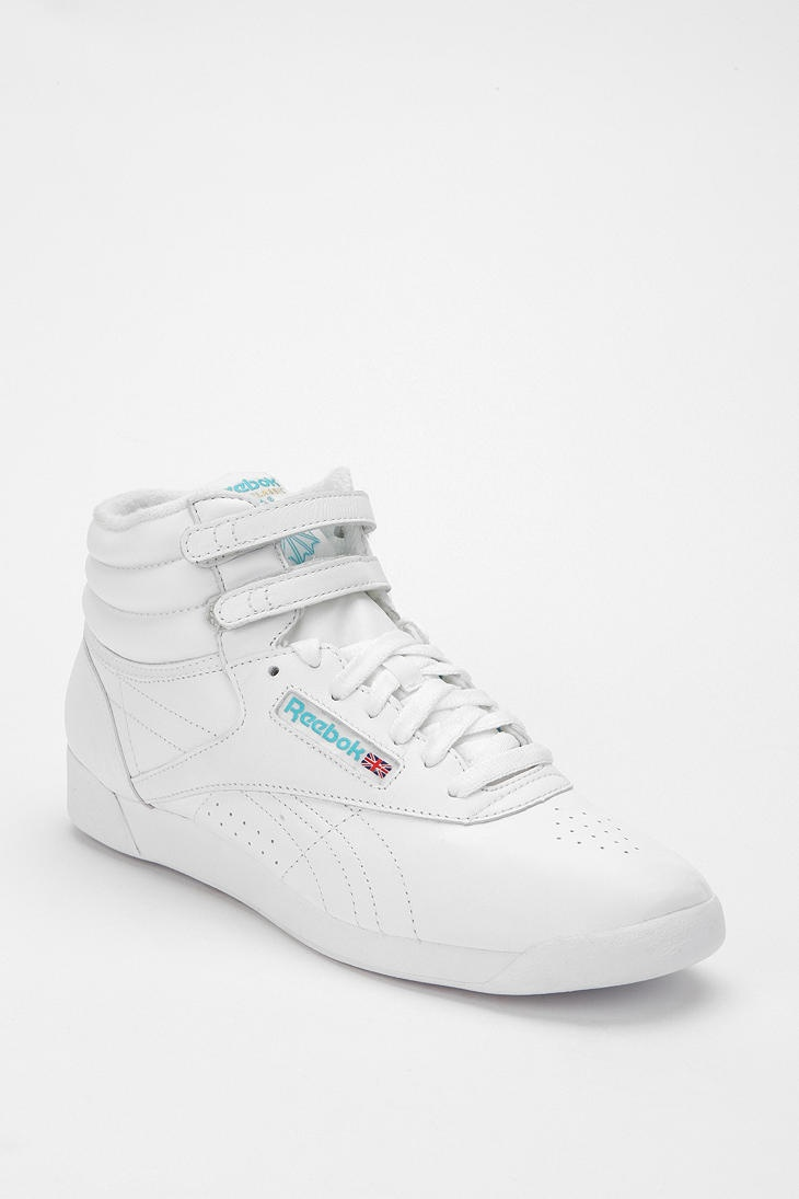 """Urban Outfitters is calling this the """"Reebok Freestyle.""""  But let's be honest, most of us know it as the """"Princess,"""" an eponymous aerobics shoe from the 80's that should not be reintroduced into the public, especially in black."""