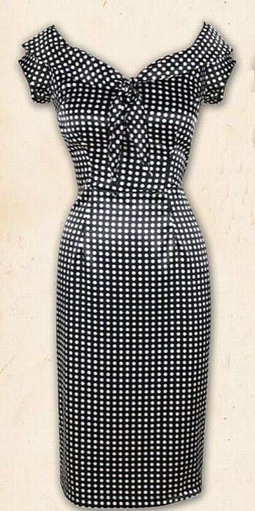 Lucky 13 Apparel Dead End Wiggle Pin Up Dress