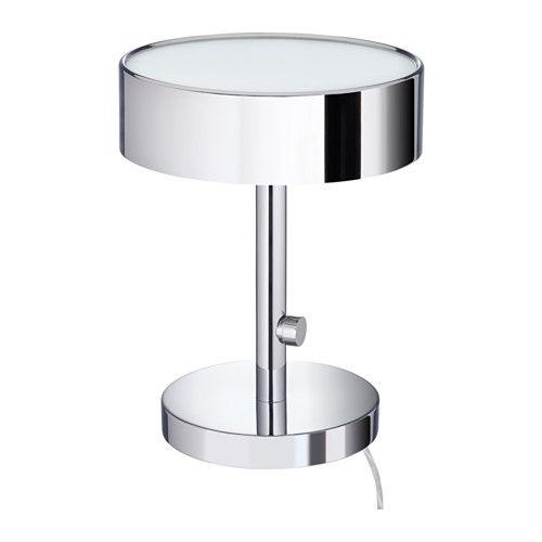 IKEA - STOCKHOLM 2017, Lampe de table, Variateur d'intensité lumineuse intégré.Le verre dépoli sur les parties supérieure et inférieure de la lampe permet de diffuser une lumière douce et tamisée.Le poids situé à la base de la lampe permet de la stabiliser.Vous pouvez faire des économies d'énergie en réglant l'intensité lumineuse grâce au variateur.Les protections en feutre sous la lampe permettent d'éviter les rayures.