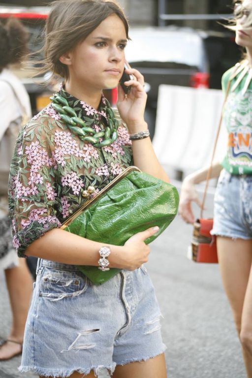 loving all but the shorts.   Mira Duma  #nyfw #streetstyle