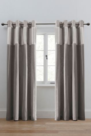 Buy Luxury Pleated Band Eyelet Curtains from the Next UK online shop