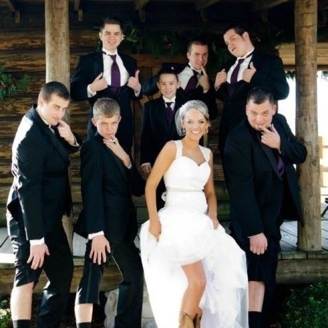 This would be our groomsmen they'd definitely want to do this lol