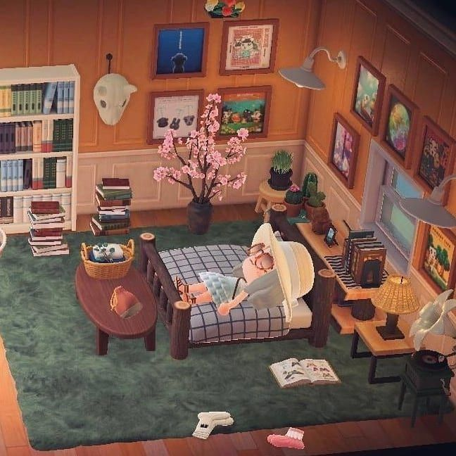 Kristian Kenneth Acnh Designs On Instagram A Cozy Attic Bedroom What Do You Use Your Attic For In 2020 Girl Bedroom Designs Animal Crossing Animal Crossing Game